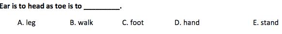 Cogat 3rd Grade Verbal Analogy Question