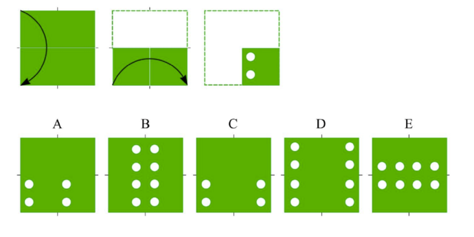 CogAT 5th Grade Paper Folding Question