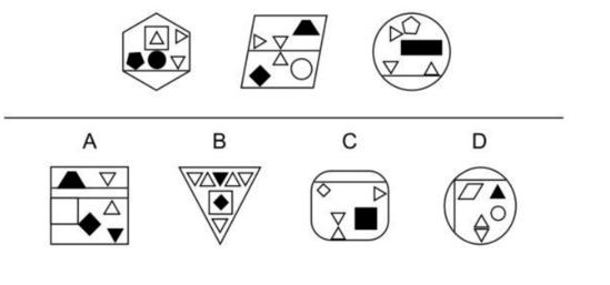 CogAT 7th Grade Figure Classification Question