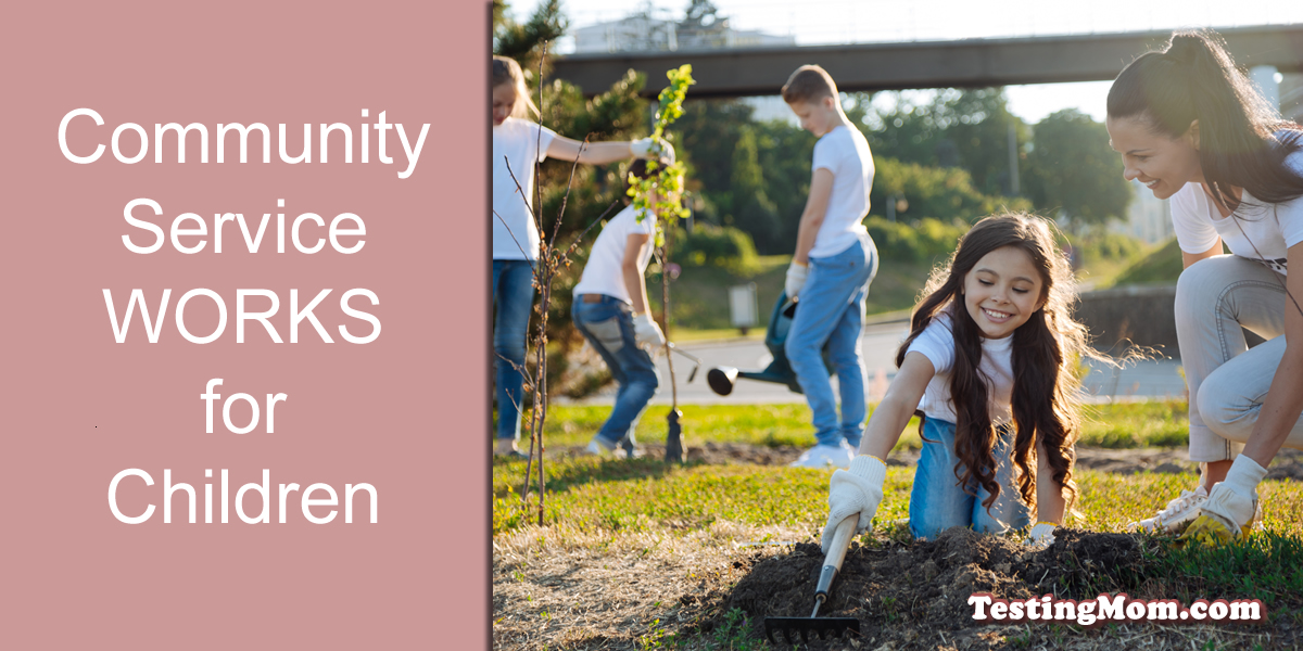 community service works for children