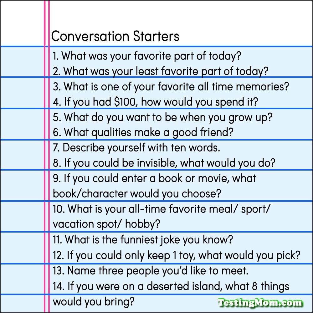 Blank's Language Levels Framework Conversation Starters