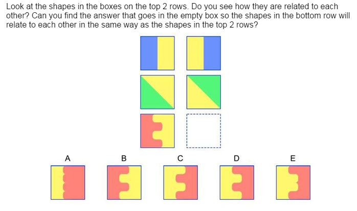 NYC Gifted and Talented First Grade NNAT Question