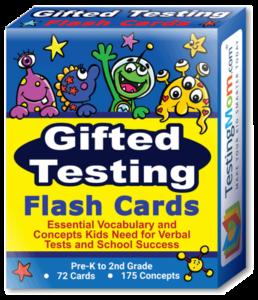 Gifted Testing Flash Card Box