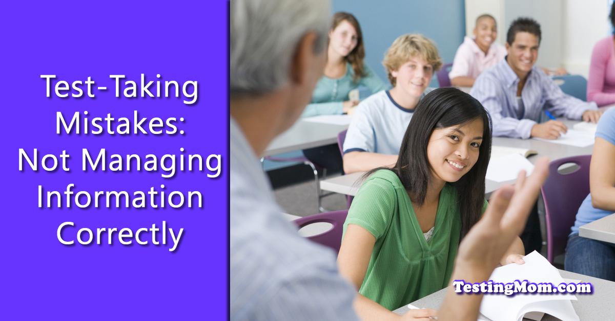 Test-Taking Mistakes Older Children Make Not Managing Information Correctly