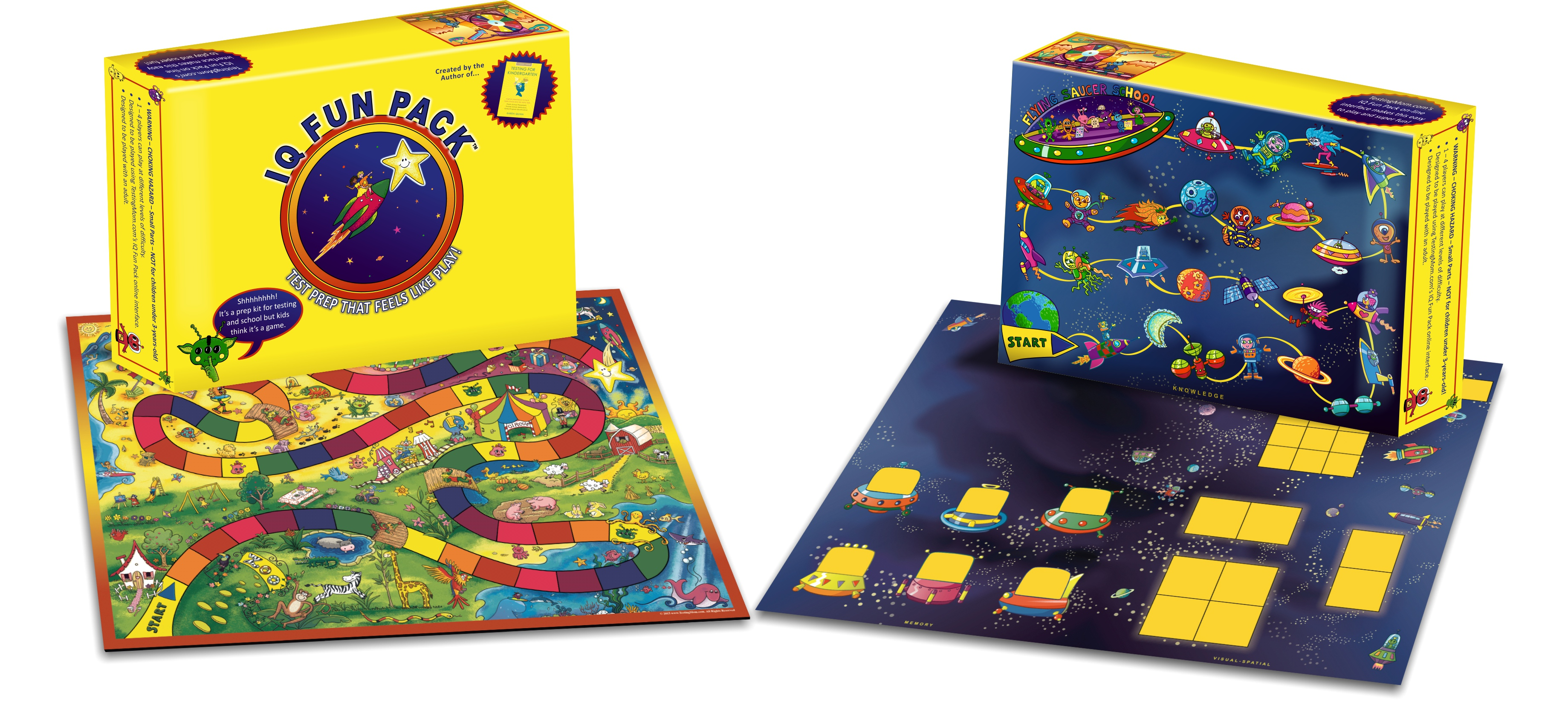 IQ Fun Pack Test Prep System That Feels Like Play (for Ages 3-8)
