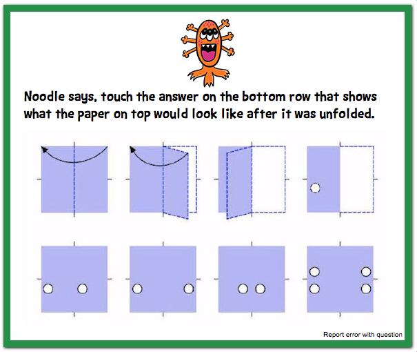 cogat test folding question