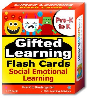 NEW Gifted Learning Flash Cards – Social Emotional Learning (SEL) (for Pre-K-Kindergarten)