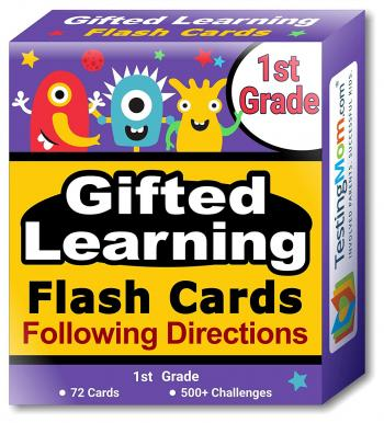 Gifted Learning Following Directions Concepts Flash Cards pack (for 1st Grade)