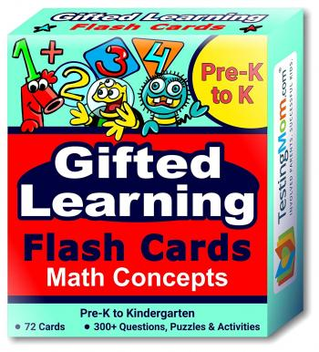 Gifted Learning Math Concepts Flash Cards pack (for Pre-K-Kindergarten)