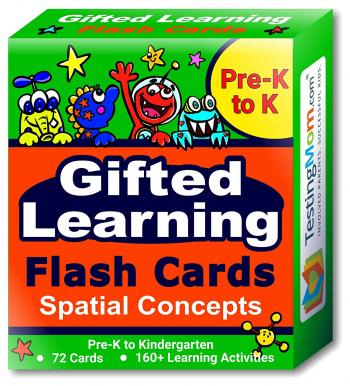 Gifted Learning Spatial Concepts Flash Cards pack (for Pre-K to Kindergarten)