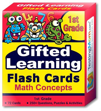 NEW Gifted Testing Flash Cards - Math Concepts (for 1st Grade)