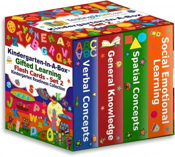 NEW Gifted Learning Flash Cards Bundle - Kindergarten in a Box Set 2 - Verbal Concepts, General Knowledge, Spatial Concepts, Social Emotional Learning