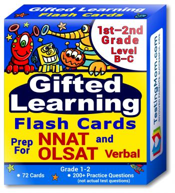 NNAT and OLSAT Test Prep Flash Cards – NYC Gifted and Talented – 1st-2nd Grade