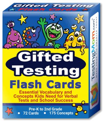 NEW Gifted Testing Flash Cards pack (for Pre-K-2nd Grade)