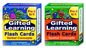 Gifted Learning Flash Cards (2-Pack) – Verbal and Spatial Concepts for Pre-K - Kindergarten