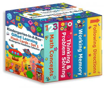 Kindergarten-In-A-Box (Set 1) - Gifted Learning Flash Cards Bundle - Thinking & Problem Solving, Following Directions, Memory, Math