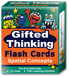 NEW Gifted Thinking Spatial Concepts Flash Cards pack (for Pre-K to 2nd Grade)