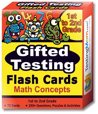 NEW Gifted Testing Math Concepts Flash Cards pack (for 1st-2nd Grade)