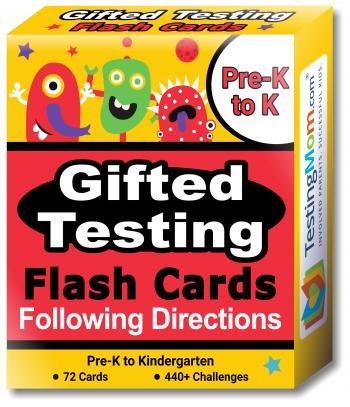 NEW Gifted Testing Following Directions Concepts Flash Cards pack (for Pre-K-Kindergarten)