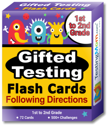 NEW Gifted Testing Following Directions Concepts Flash Cards pack (for 1st-2nd Grade)