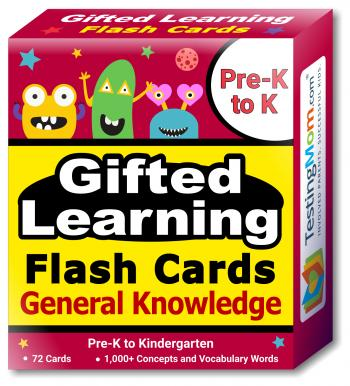 Gifted Learning General Knowledge Flash Cards pack (for Pre-K-Kindergarten)