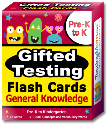 NEW Gifted Testing General Knowledge Flash Cards pack (for Pre-K-Kindergarten)