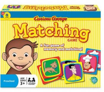 Curious George Matching Game (Pattern Completion)
