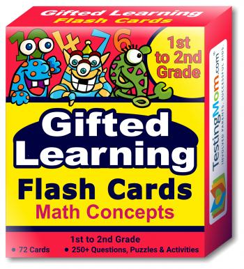 Gifted Learning Flash Cards - Math Concepts (for 1st to 2nd Grade)