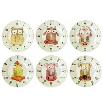 The Multiples 6 piece plate set