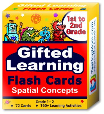 NEW Gifted Learning Flash Cards - Visual Spatial Concepts for 1st - 2nd Grade - Educational Practice for The NNAT Test, CogAT Test, OLSAT Test, WPPSI, WISC, AABL, KBIT, SAGES and More!