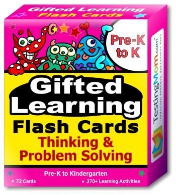 Gifted Learning Flash Cards – Thinking & Problem-Solving (for Pre-K-Kindergarten)