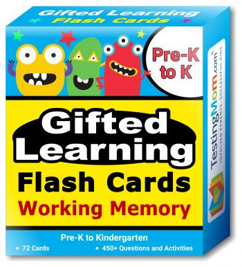 Gifted Learning Flash Cards – Working Memory (for Pre-K-Kindergarten)