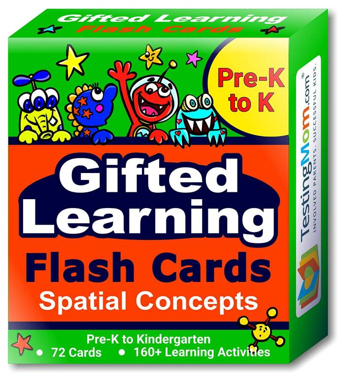 New Gifted Learning Spatial Concepts Flash Cards Pack For Pre K To
