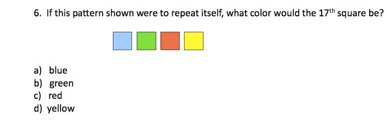 TerraNova 5th Grade Practice Questions - Mathematics2