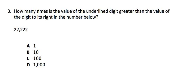 TerraNova 7th Grade Practice Questions - Mathematics